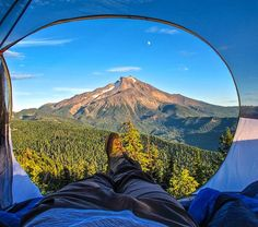 camping. tent view.
