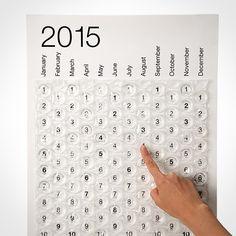 Een leuke manier om af te tellen voor een #evenement: een bubbeltjes kalender!