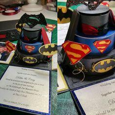 Batman vs Superman Wedding Invitation