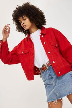 9a2afc8b43d 12 Best Red Denim Jacket images