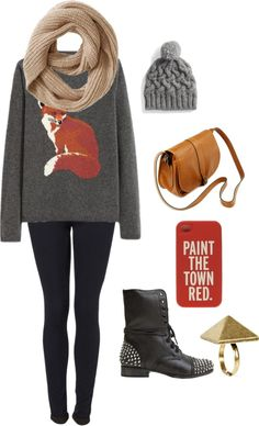"""""""Taylor Swift fox sweater"""" by emilyhubbard14 on Polyvore I HAVE THIS SWEATER IN BROWN AHHHH"""