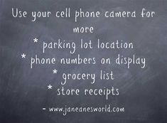 Cell Phone Camera - Use Technology in a New Way Technology Articles, New Technology, Creating A Bullet Journal, Telephone Call, Grocery Items, Write It Down, How To Take Photos, Let It Be