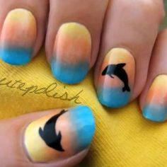 Nail Art Tutorial Delfín Nail Art