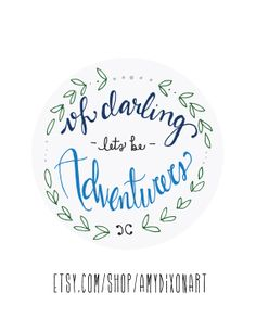 8.5 x 11 print  hand lettered quote art  oh darling by AmyDixonArt, $25.00