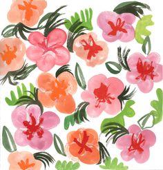 Floral Sketchbook Pattern by April V. Walters, 2014