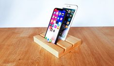 Check out this item in my Etsy shop https://www.etsy.com/listing/592543282/iphone-7-and-ipad-wood-dual-station-ipad
