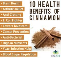 Health benefits of cinnamon from www.keane2befit.com