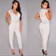 7ee6757b7a1d Sexy Simple Fashion Summer Lightweight Women s White Body Jumpsuit S-L
