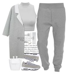 """""""AM95"""" by fuckedchanel ❤ liked on Polyvore featuring Chanel, NIKE, Acne Studios, Monki, Mansur Gavriel and NARS Cosmetics"""