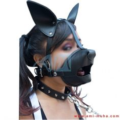 Puppy mosh bondage mitts geared up pup