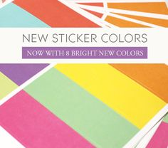 Sticker Sheets by PlumPaperDesigns on Etsy
