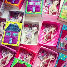 Miniature Cammille in her match box home by Sweet William