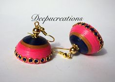 Quilling earrings-jhumkas by Deepucreations on Etsy
