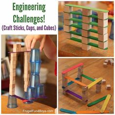 4 Engineering Challenges For Kids by Frugal Fun For Boys