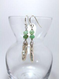 Stick Pearl earrings, $51.00