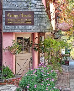 Carmel, California~~ Justin and I married here. It is beautiful! The most beautiful scenery I've ever seen, including in pictures. Cozy Cottage, Cottage Style, Cottage Art, Magic Places, Carmel California, Monterey California, California Trip, Storybook Cottage, Storybook Homes