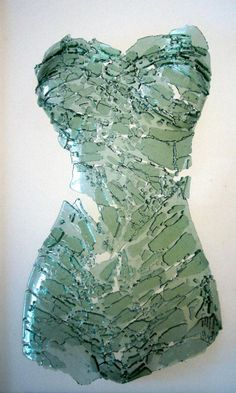 My broken body - glass art Inspiration- stained glass piece using scrap glass in a similar shape.