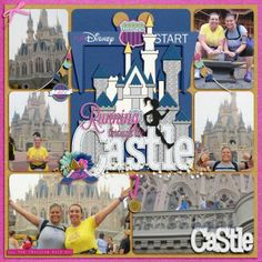 Running thru the Castle Created using Kellybell Designs- That Covers It! Template Vol 4; Run Like a Girl kit and word art; White & Glitter Alpha; Pixie Dust Vol 3; and castle from Fairytale Story kit