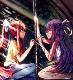 Yuri y monika! Yuri, Tsundere, Oki Doki, Anime Group, Psychological Horror, Cute Games, Yandere Simulator, World Of Books, Literature Club