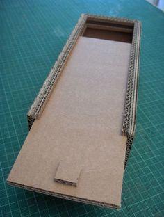 Tutoriel Fabriquer un plumier en carton-este tutorial me sirve para hacer mi mesa de cafe con cristales.