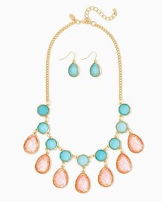 charming charlie | Daydream Multicolored Necklace Set | UPC: 410007418478 #charmingcharlie