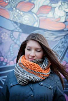 Cowlberta pattern by Sally Palin; part of the Neighborhood Knits & Crochets Too: 2014 Rose City Yarn Crawl Pattern Collection eBook available on Ravelry. Photography by Joanna Schilling of Ember Owl Photography.