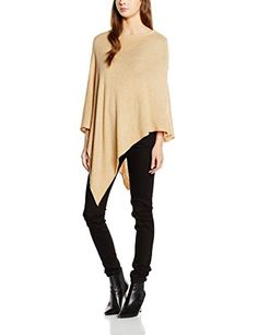 #PIECES #Damen #Poncho #PCRIKKI #WOOL #NOOS, #Gr. #One #size, #Braun #(Tan)…