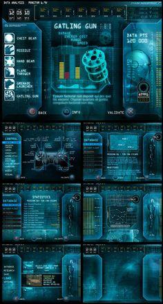 War game interface concept | sci-fi | #ui #interface #scifi #game #cyan