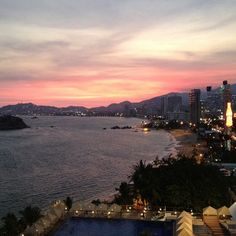 Acapulco is my favorite city in Mexico. The views of the Acapulco Bay at night are gorgeous!