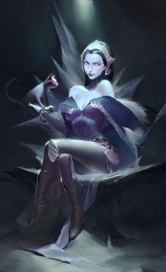 Liliana from Magic: The Gathering Cosplay Fantasy Art Women, Beautiful Fantasy Art, Dark Fantasy Art, Fantasy Artwork, Dungeons And Dragons Characters, Fantasy Characters, Female Characters, Fantasy Character Design, Character Inspiration