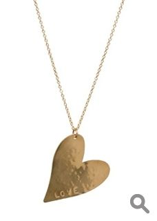 Gold Heart Necklace -- Best part?  You can customize it!