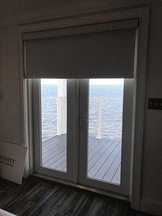 Blackout Roller Shades with Cassette Track on Double French Door Window Blinds, Blinds For Windows, Double French Doors, Shades Blinds, Roller Shades, Window Treatments, Track, Blinds, Shades For Windows