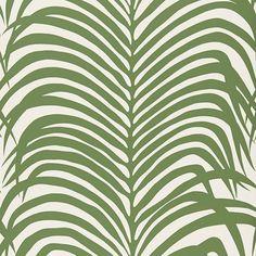 Zebra Palm   5006931 in Jungle   Schumacher Wallcovering