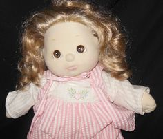 1985 Mattel My Child Doll Blonde Hair Brown Eyes Original Outfit Shoes Heart #Mattel #DollswithClothingAccessories