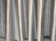 Royal Stripes Curtain Drapes Curtain Panels Grey Curtains Window Curtains Valance Bedroom Curtains Window Treatments Door Curtains For Sale by FabricMart on Etsy