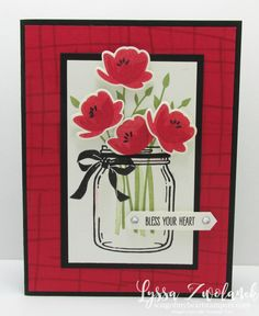 Jars of Love Everyday Mason Jar Craft Rubber Stamp Poppy Stampin Up Lyssa