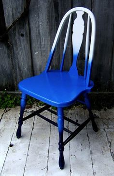 Ombre painted chair.  <3