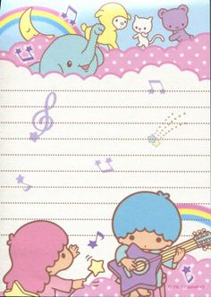 Little Twin Stars memo pad as courtesy of Sanrio Little Twin Stars, Little Star, Cute Stationary, Hello Kitty Wallpaper, Letter Set, Sanrio Characters, My Melody, Note Paper, Smash Book