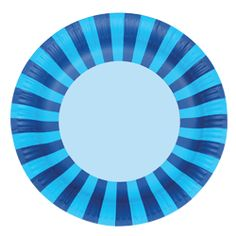 Blue Paper Plates Blue Stripes Party Plates by CastlesandCupcakes Power Ranger Party, Blue Birthday, Kids Party Supplies, Blue Party, Mad Hatter Tea, Pirate Party, Train Party, Circus Party, Superhero Party