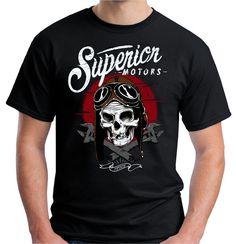 9af7a69dc Click to Buy    Print Logo On Shirt Gildan Men S Superior Motors Skull.