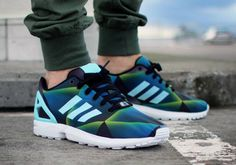 super popular 93592 75bc6 Adidas ZX Flux Print Clear Aqua post image