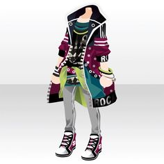 DreiEck TriStar|@games -アットゲームズ- Punk Outfits, Anime Outfits, Boy Outfits, Japanese Uniform, Character Costumes, Costume Design, Chibi, Character Design, Dress Up