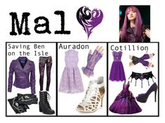 """""""Mal: Descendants 2"""" by annabellewren ❤ liked on Polyvore featuring American Rag Cie, Robin's Jean, Disney and Jessica Simpson"""