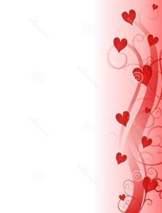 Red Background and also Red White for Heart-shape Border with Page