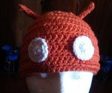 Carrot (or orange) colored #android beanie. Super awesome! Use code 20OFF to get 20% off at check out!