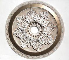"Ceiling medallion 23"" hand painted for a chandelier, metallic bronze | accentbydesign - Housewares on ArtFire"