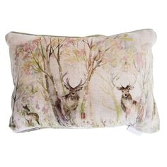 Voyage Sherwood Cushion Enchanted Forest] - : Gordon Smith Ltd, Cookware, Tableware, Linens Soft Furnishings at Malvern's Department Store Cottage Interiors, Shop Interiors, Stag Cushion, Crafts Beautiful, Home Comforts, Floor Cushions, Vinyl Flooring, Soft Furnishings, Home Living Room