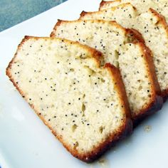 Almond Poppyseed Bread – Rumbly in my Tumbly. My old recipe called for salt. I double the glaze. Spring Desserts, Just Desserts, Delicious Desserts, Dessert Recipes, Yummy Food, Tasty, Pavlova, Cheesecakes, Poppy Seed Bread