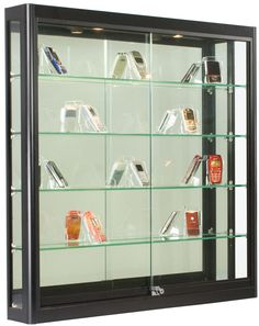 Wall Mounted Display Case Wslider Doors Mirror Back Locking with dimensions 953 X 1200 Shallow Wall Display Cabinet - If you possess many different Wall Mounted Display Case, Wall Mounted Display Cabinets, Glass Shelves, Display Shelves, Display Cases, Trophy Display Case, Shelf Display, Wall Shelves, Display Ideas