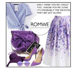 """ROMWE"" by aida-ida ❤ liked on Polyvore featuring Chicwish, Jessica Simpson, Christian Louboutin and ZeroUV"